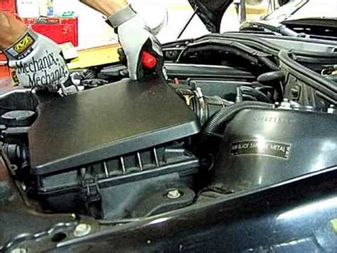 bmw  air filter replacementwmv youtube
