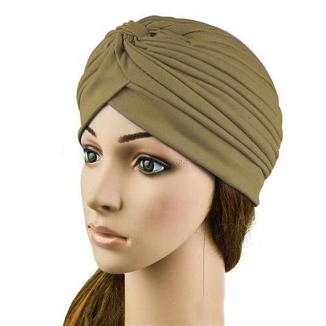 womenmen cap turban head wrap band chemo bandana hijab