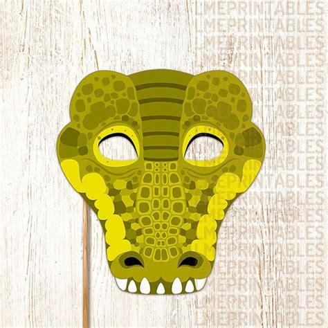 crocodile printable mask reptile green diy animal masks
