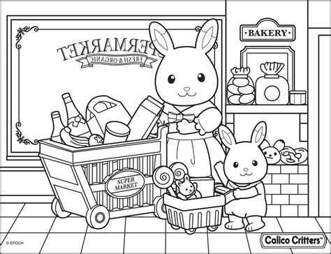 calico critters coloring pages getcoloringpagescom