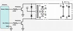 Dual Latch Relay Circuit Setup