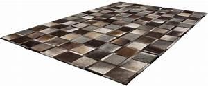 Fell Teppich Grau : fell teppich kayoom lavish 410 patchwork leder handgewebt online kaufen otto ~ Watch28wear.com Haus und Dekorationen