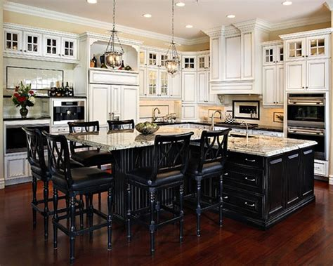 premade kitchen islands this want black island and white cupboards in