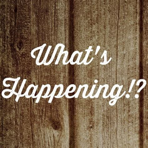 Whats Happening - YouTube