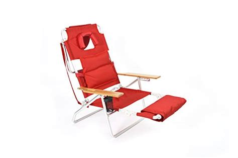 ostrich deluxe padded sport 3 in 1 beach chair red