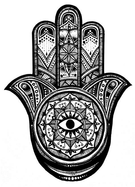 hamsa+Art | simple hamsa colouring pages (page 2) | Hamsa, Hamsa art, Hamsa tattoo