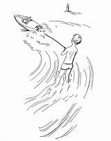 Coloring Ski Pages Jet Skiing Water Fun Waterski Printable Print Getcolorings sketch template