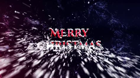 christmas logo after effects template christmas snow logo after effects template 4k youtube