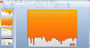 free orange ink powerpoint template free powerpoint With how to download powerpoint templates from microsoft