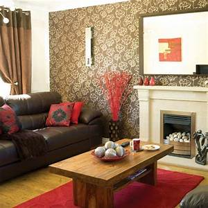 brown leather couch decorating living room decorating With living room furniture decorating ideas