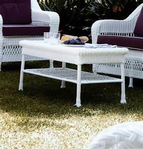 Table Basse Resine Tressee : table basse aluminium et r sine blanche brin d 39 ouest ~ Teatrodelosmanantiales.com Idées de Décoration