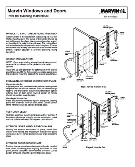integrity infinity window door parts marvin window door