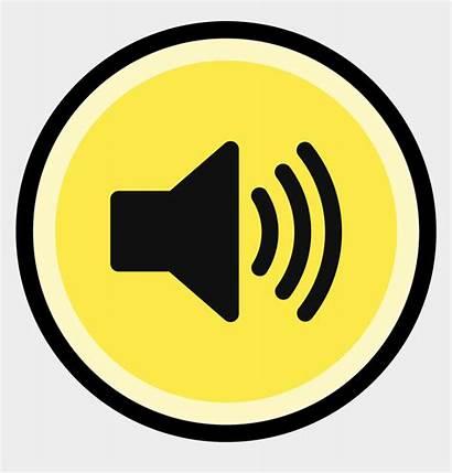 Sound Button Clipart Volume Activated Created Non