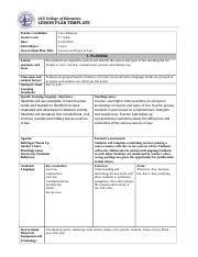 coe lesson plan gcu coe lesson plan 1 docx gcu college of education lesson plan template candidate