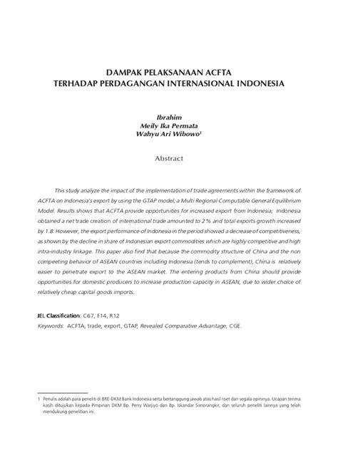 Perdagangan Bebas China dan Indonesia