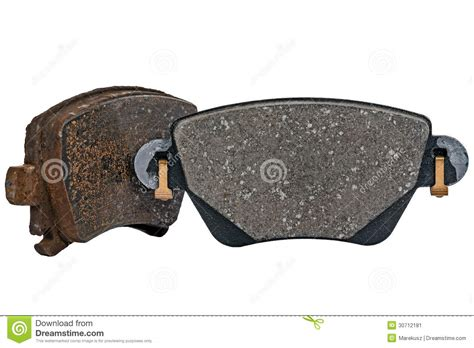 Used And New Brake Pad Stock Image