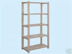 Scaffali scaffale in legno natural piani cm xh