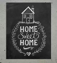 artwork for home Home Sweet Home Chalkboard Art Print | Art Prints ...