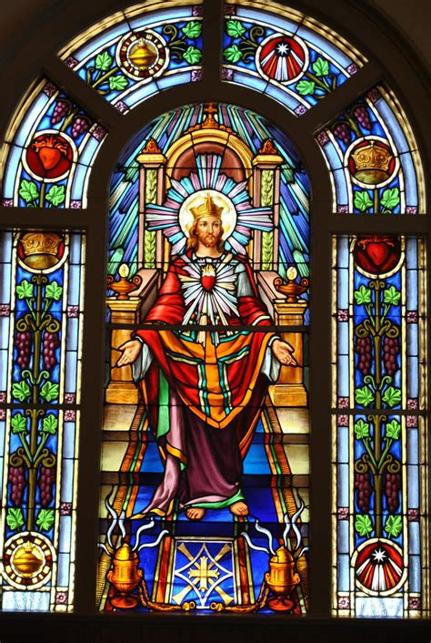 st vincent de paul stain glass st john paul ii