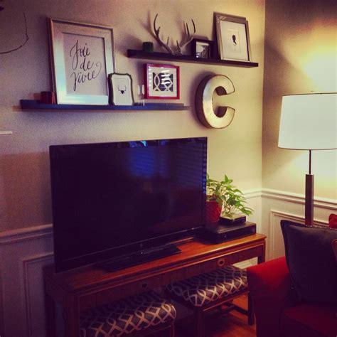decor above tv above tv decor on tv decor shelf above