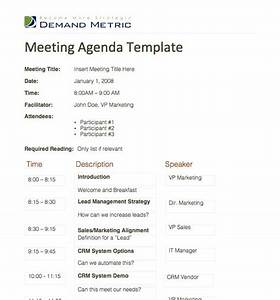 Meeting Agenda Template - A template to organize meeting ...