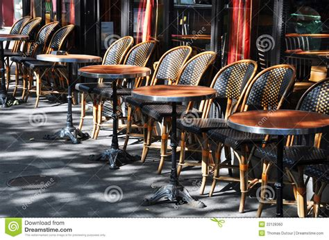 fabricant de chaises cafe terrace in stock photo image of