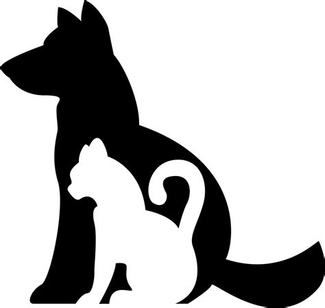 and cat silhouettes together svg png icon free 74660 onlinewebfonts