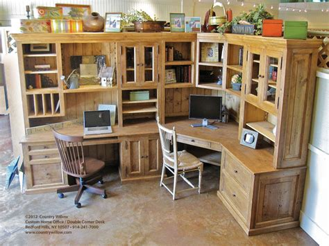 double desk home office country willow home office double corner desk