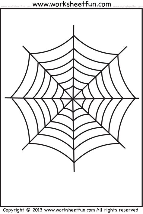 Web Sight Templates Spider Web Tracing And Coloring 2 Worksheets