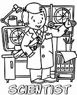 Scientist Coloring Printable Topcoloringpages Children sketch template