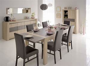 salle a manger stone chene gris With idee deco salon salle a manger contemporain