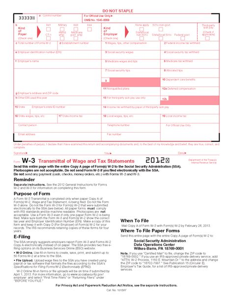 form w 3 transmittal of wage and tax statements info copy