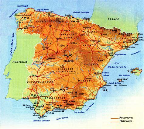 Carte Des Reliefs De à Compléter by Cartograf Fr Carte Espagne Page 2