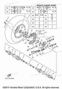 Yamaha Atv 2008 Oem Parts Diagram For Rear Wheel 2