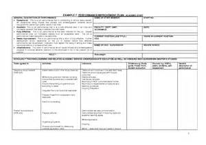 Performance Management Plan Template by Performance Management Plan Exles