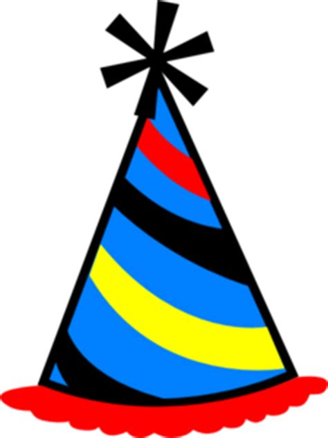 party hat blue red yellow clip art at clker com