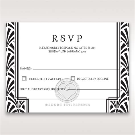 Rsvp Template For Event by Gatsby Rsvp Wedding Stationery Uk Cards