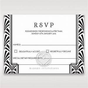 gatsby rsvp wedding stationery uk cards With wedding invites with rsvp attached uk