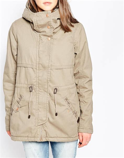 drawstring waist hooded jacket only hooded parka jacket with drawstring waist in