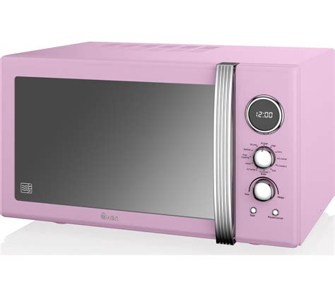 argos pink kitchen accessories buy swan sm22080pn retro microwave with grill pink 4176
