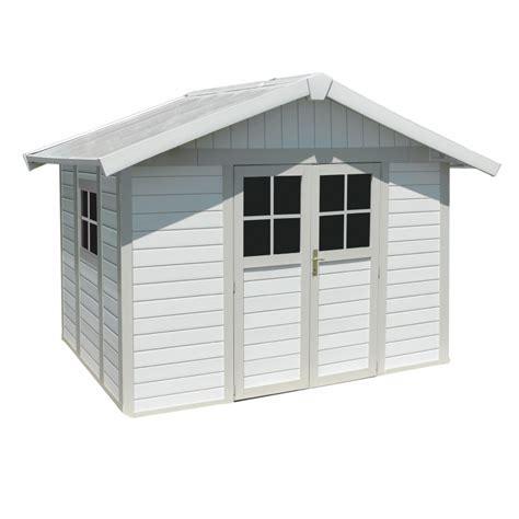 gartenhaus kunststoff grosfillex gartenhaus aus kunststoff 7 5m 178 deco wei 223 graugr 252 n