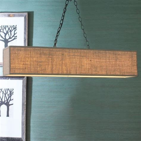 rectangular shade island chandelier