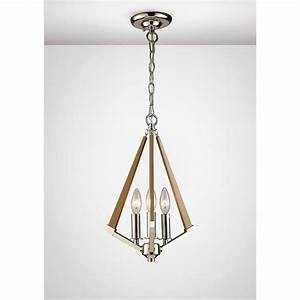 Diyas hilton light ceiling pendant in polished nickel