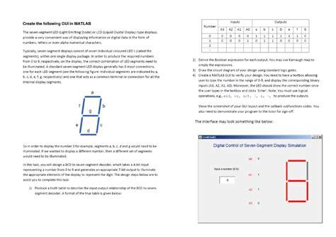 Create The Following Gui Matlab Seven Segme