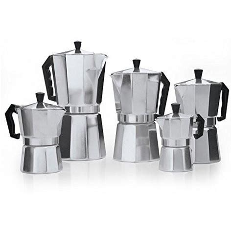 The upper chamber is made of transparent glass to enable you to follow the process of making espresso more luxhaus stovetop espresso coffee maker comes in only two sizes which are 3 cups and 6 cups. Classic Aluminum Stovetop Espresso Mocha Coffee Maker - Now in 5 Sizes - Pride Of India