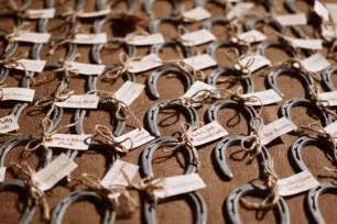 horseshoe wedding favors featured big sky montana rustic ranch wedding al i farm weddings