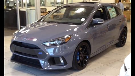 2016 Ford Focus Rs In Stealth Gray.