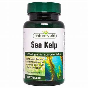 Natures Aid Sea Kelp - Iodine