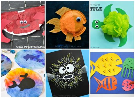 27 crafts for i arts n crafts 245 | Ocean Animal Crafts for Kids