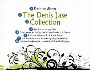 fashion show invitation ticketriver With fashion show ticket template